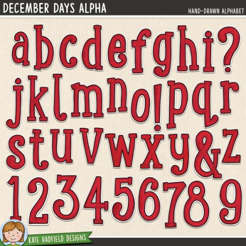 December Days Alphabet