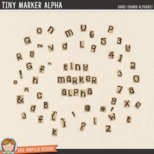 Tiny Marker Alphabet
