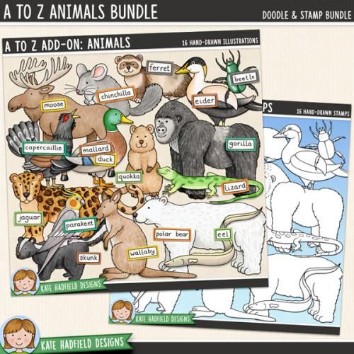 A to Z Add-on: Animals Bundle