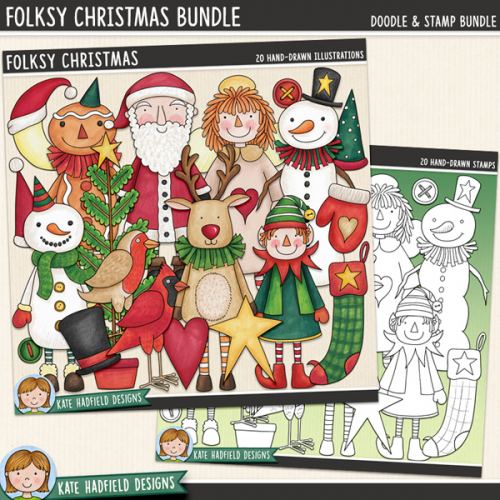 Folksy Christmas Bundle