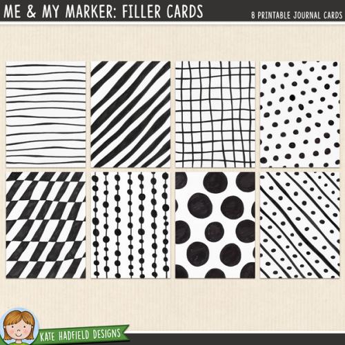 Me & My Marker: Filler Cards