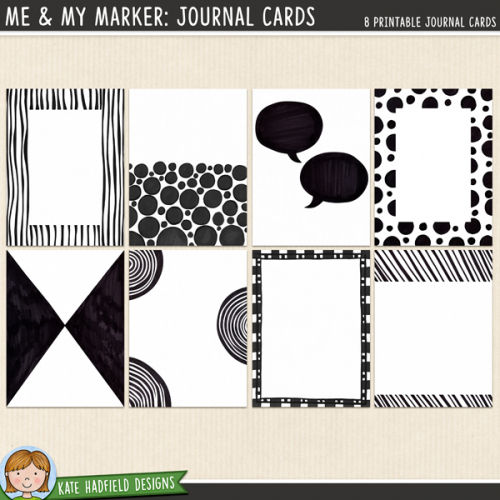 Me & My Marker: Journal Cards
