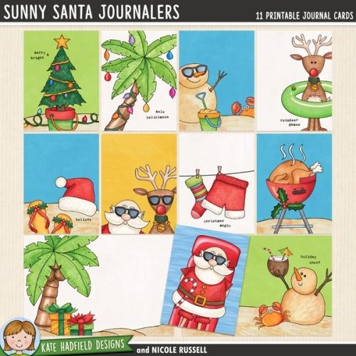 Sunny Santa Journalers
