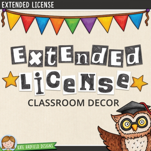 Extended License: Classroom Decor