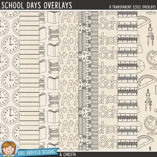 School Days Overlays