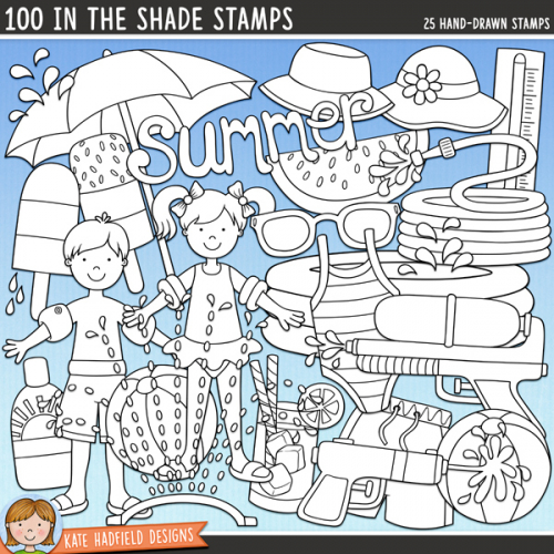 100 in the Shade Stamps