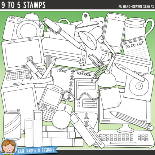 9 to 5 Stamps