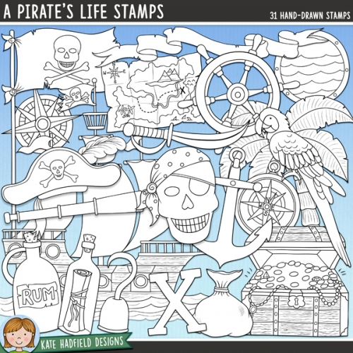 A Pirate's Life Stamps