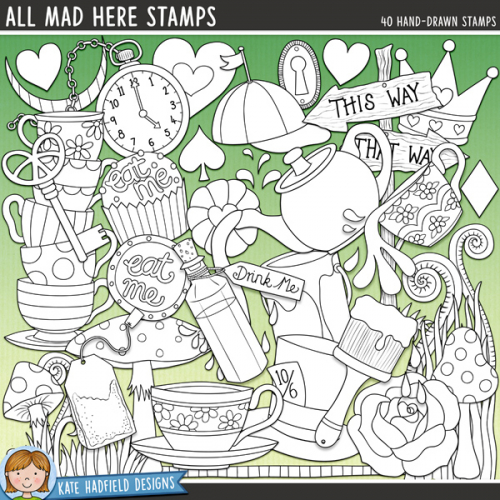 All Mad Here Stamps