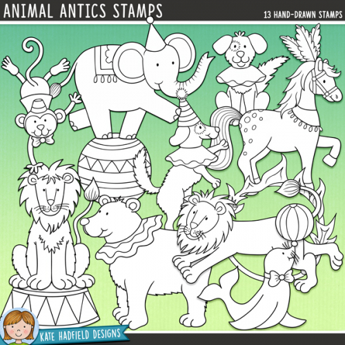 Animal Antics Stamps
