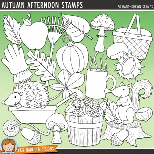 Autumn Afternoon Stamps