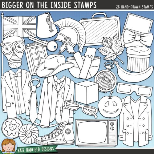 Bigger on the Inside Stamps