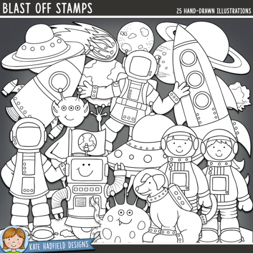 Blast Off Stamps
