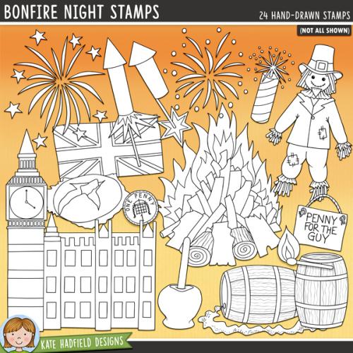 Bonfire Night Stamps