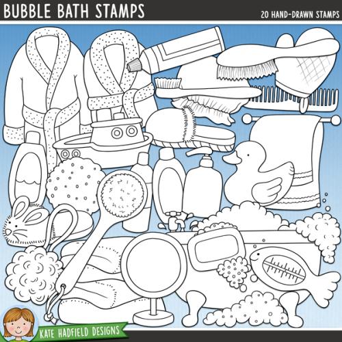 Bubble Bath Stamps