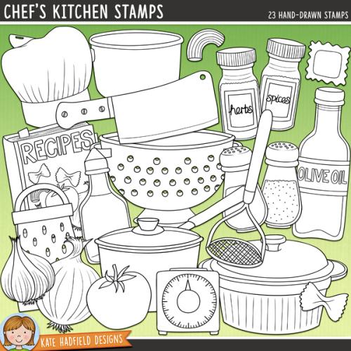 Chef's Kitchen Stamps