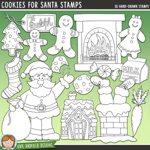 Cookies for Santa Stamps