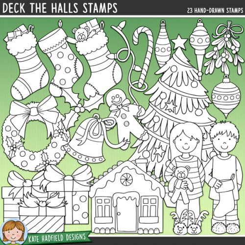 Deck the Halls Stamps