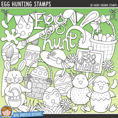 Egg Hunting Stamps