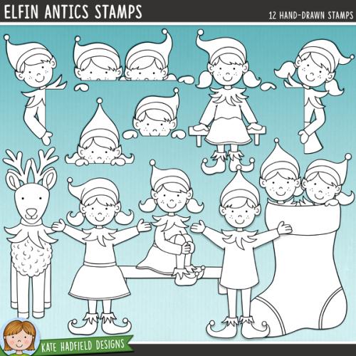 Elfin Antics Stamps