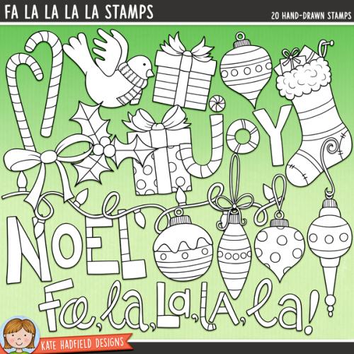 Fa La La La La Stamps
