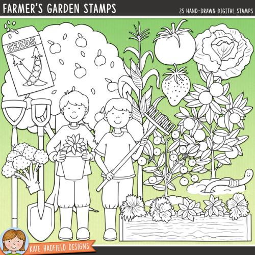 Farmer's Garden Stamps