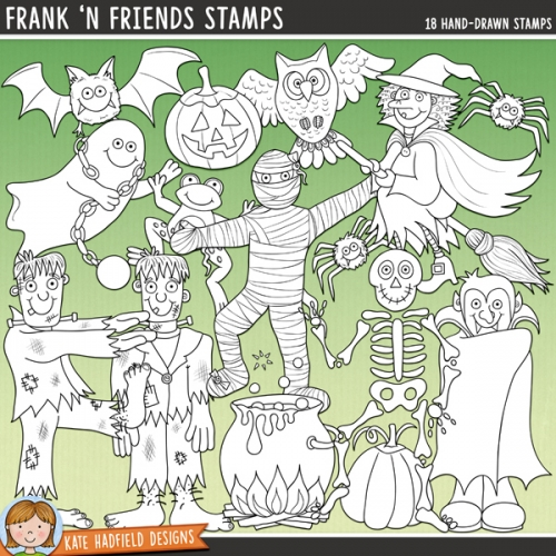 Frank 'n Friends Stamps