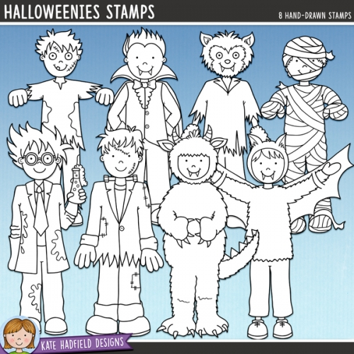 Halloweenies Stamps 1