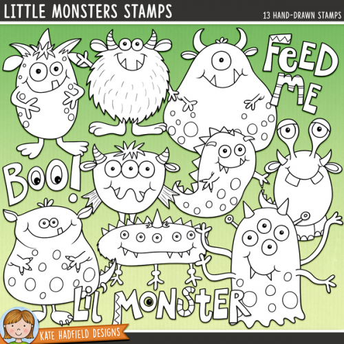 Little Monsters Stamps