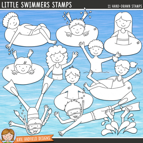 Little Swimmers Stamps