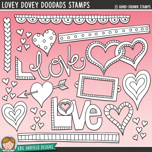 Lovey Dovey DooDads Stamps