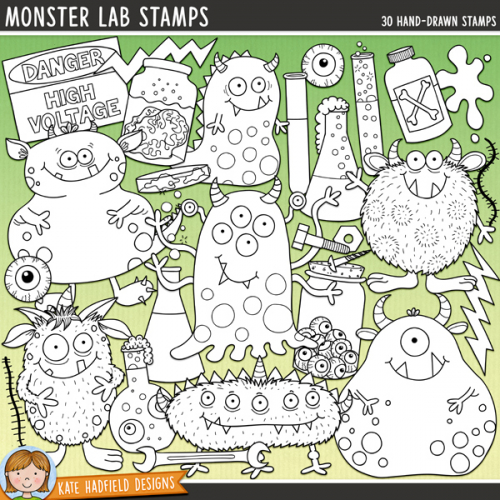 Monster Lab Stamps