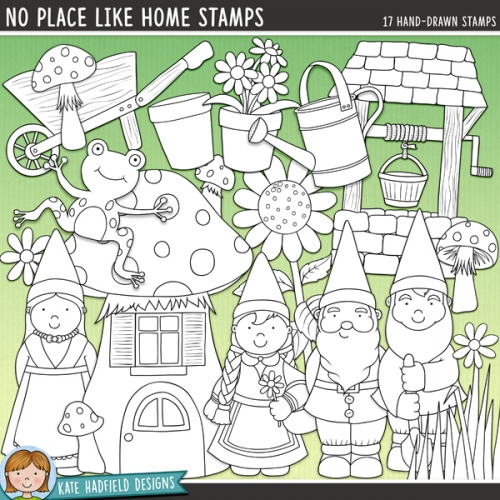 No Place Like Gnome Stamps