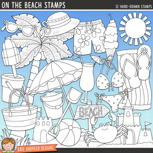 On The Beach Stamps