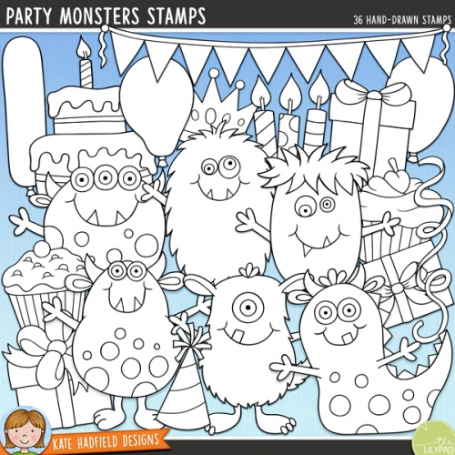 Party Monsters Stamps