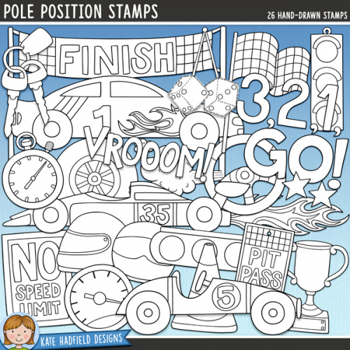Pole Position Stamps