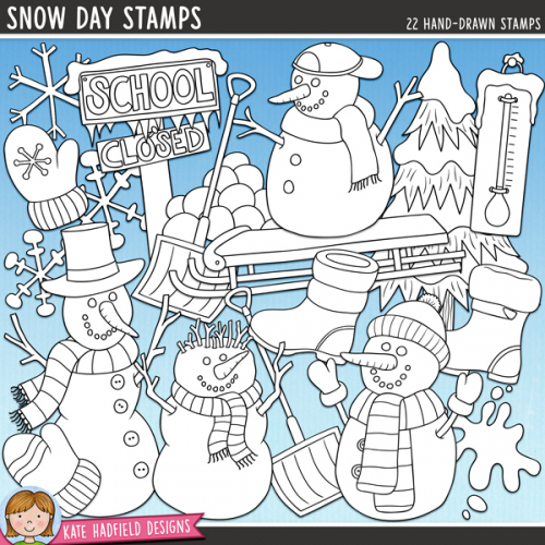 Snow Day Stamps