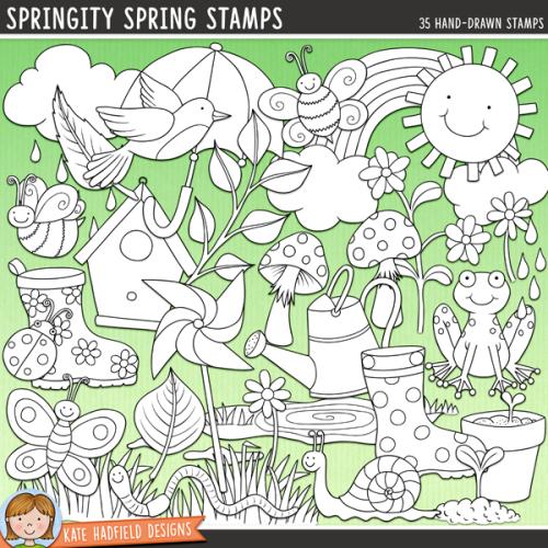 Springity Spring Stamps