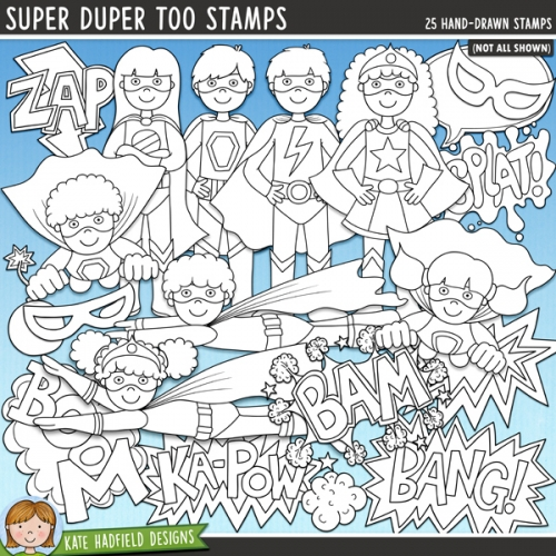 Super Duper Too Stamps