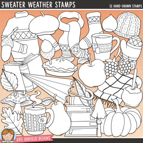 Sweater Weather Stamps