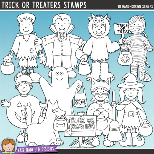 Trick or Treaters Stamps