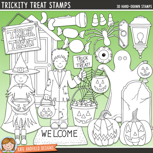 Trickity Treat Stamps