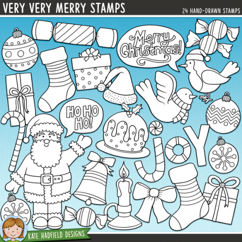 Very Very Merry Stamps