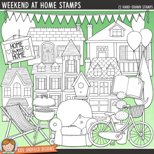 Weekend At Home Stamps
