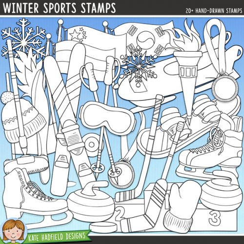 Winter Sports Stamps