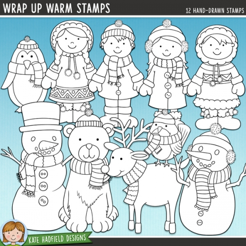 Wrap Up Warm Stamps