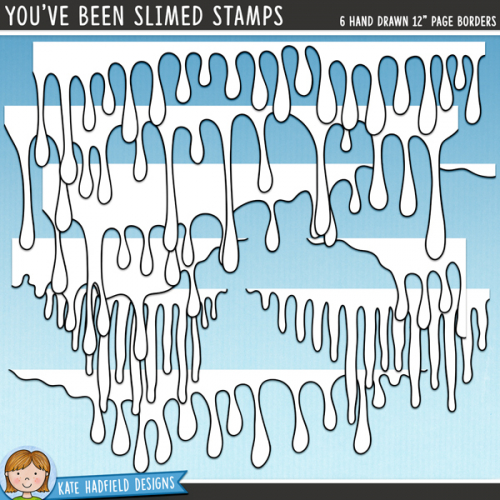 You've Been Slimed Stamps