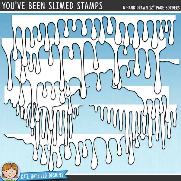 Outline versions of my You've Been Slimed border doodles, this stamp pack contains the same doodles in three different formats: black outline png, black outline filled with white png (as shown in the preview) and a new bolder outline version for working on a smaller scale. Digital stamps are perfect for creating colouring sheets, cards and other hybrid projects as well as for stamping on your digital scrapbooking pages!A set of 6 gruesomely dripping page borders to add a touch of gooey slime to your pages and projects! Use them full width across your page or resize them and tuck them underneath photos and other elements for extra ick! Contains 6 hand drawn page borders to coordinate with the October 2013 BYOC collection.FOR PERSONAL & EDUCATIONAL USE (please see myTerms of Usefor more information)
