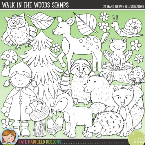 Walk in the Woods Stamps