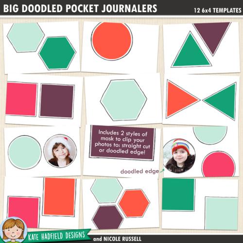Big Doodled Pocket Journalers